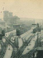 Nádraží Franze Josefa před stavbou nové budovy, před 1901, pohlednice