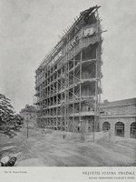 Stavba nové budovy, 1907, R.Bruner-Dvořák, Wikipedia