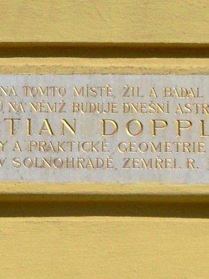 Christian Doppler, Karlovo náměstí čp. 6/20, Nové Město (autor fotografie: Dagmar Broncová)