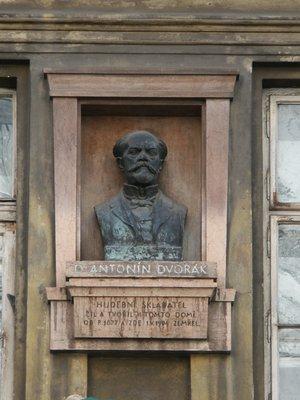 Antonín Dvořák, Žitná čp. 564/14, Nové Město (autor fotografie: Milan Polák)