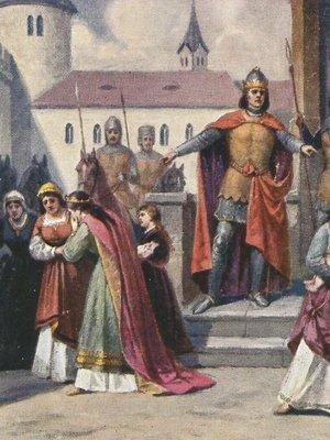 Elišce Přemyslovně právě odebírá Jan Lucemburský syna, pozdějšího Karla IV.