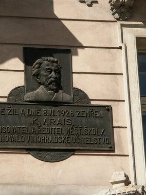 Karel Václav Rais, Čermákova čp. 1154/3 (autor fotografie: Milan Polák)