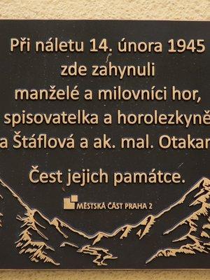 Vlasta a Otakar Štáflovi, Mánesova čp. 1624/20, Vinohrady (autor fotografie: Milan Polák)