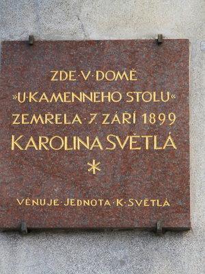 Karolina Světlá, Ječná čp. 550/1, Nové Město (autor fotografie: Milan Polák)