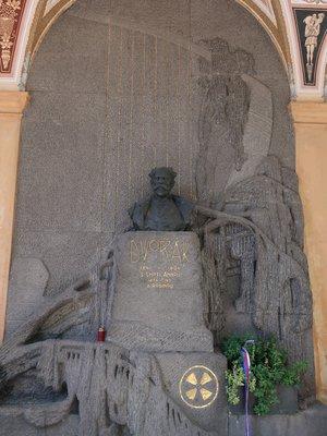 Antonín Dvořák, Vyšehradský hřbitov, hrob 14-36, Vyšehrad (autor fotografie: Milan Polák)