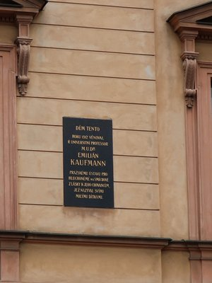 Emilián Kaufmann, Žitná čp. 580/2, Nové Město (autor fotografie: Milan Polák)