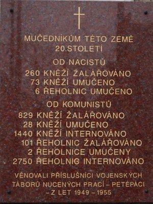 deska na kostele sv. Ignáce (autor fotografie: Milan Polák)