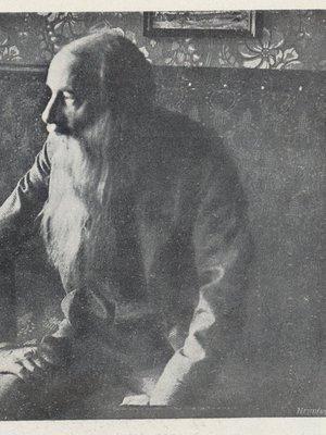 Poslední foto J. Vrchlického (autor fotografie: Český svět 1912)
