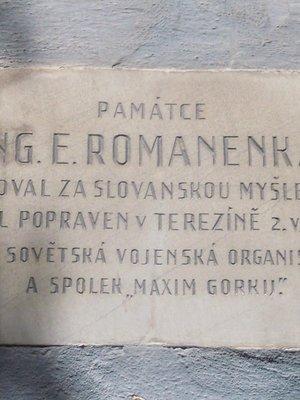 Deska Ing. E. Romanenka