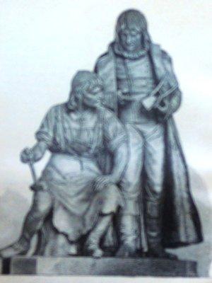 Pomník vynálezců na dobové fotografii (autor fotografie: archiv)