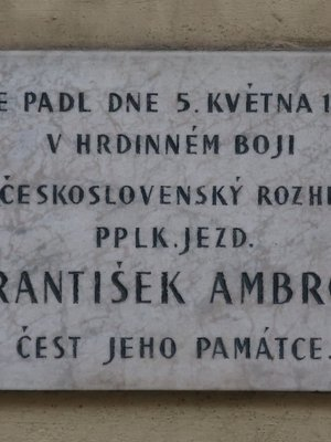 deska Františka Ambrože (autor fotografie: Milan Polák)