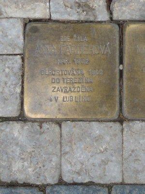 Kámen zmizelých, A. Färberová (autor fotografie: Dagmar Broncová)