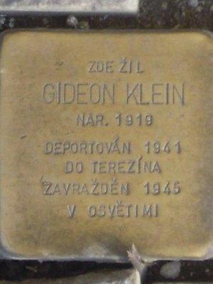 Kámen zmizelých, Gideon Klein (autor fotografie: Dagmar Broncová)