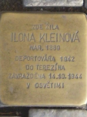 Kámen zmizelých I. Kleinové (autor fotografie: Dagmar Broncová)