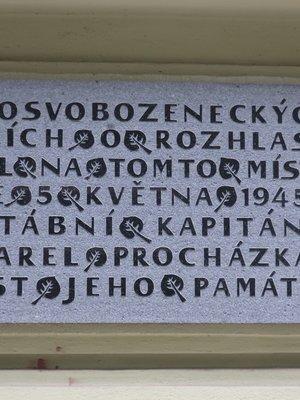 renovovaná pamětní deska (autor fotografie: Milan Polák)