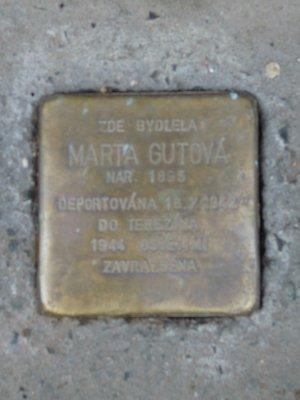 Kámen zmizelých, M. Gutová (autor fotografie: Dagmar Broncová)
