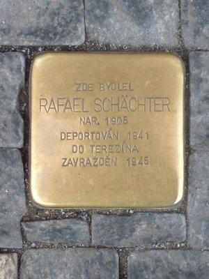 Kámen zmizelých, Rafael Schächter (autor fotografie: Dagmar Broncová)
