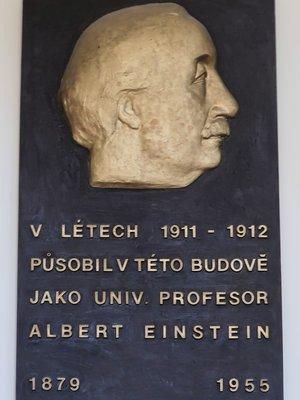 Deska Alberta Einsteina (autor fotografie: Milan Polák)