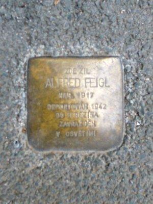 Kámen zmizelých Alfreda Feigla (foto D. Broncová)