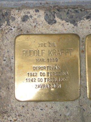 Kámen zmizelých Rudolfa Krafta (foto Dagmar Broncová)