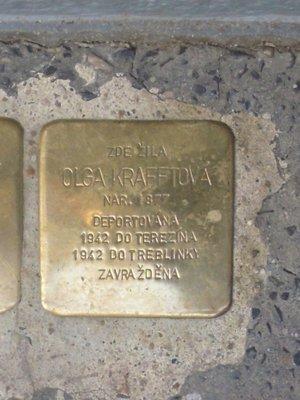Kámen zmizelých Olgy Kraftové (foto Dagmar Broncová)