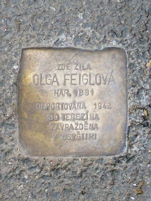 Kámen zmizelých Olgy Feiglové (foto D. Broncová)