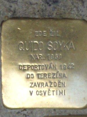 Kámen zmizelých Quido Soyky (foto D. Broncová)