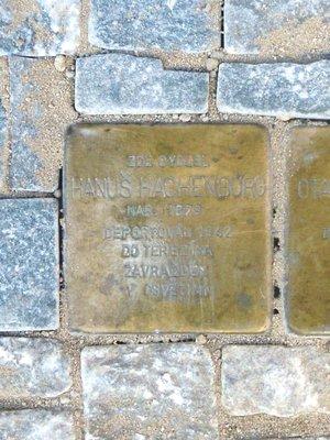 H. Hachenburg, kámen zmizelých (foto D. Broncová)