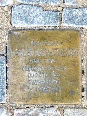 Kámen zmizelých Hanuše Hachenburga (foto D. Broncová)