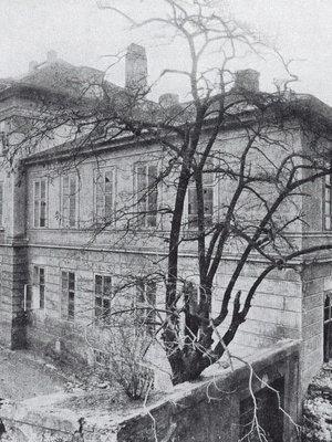 Eckertova fotografie lázní před zbořením
