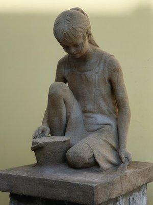 Hrající si děvčátko (Foto M. Polák, září 2020)
