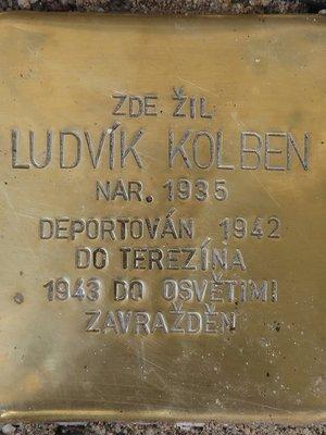 Kámen zmizelých Ludvík Kolben (Foto M. Polák, září 2020)