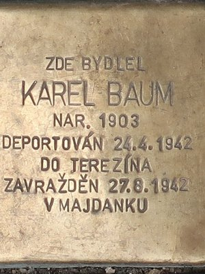 Karel Baum (Foto M. Polák, duben 2021)