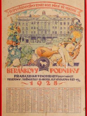 Beránkova tržnice, kalendář. Zdroj: M.Frankl