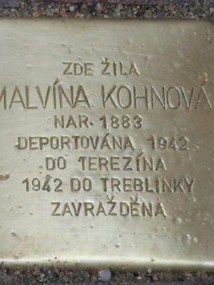 Kámen zmizelých Malvíny Kohnové (Foto M. Polák, červen 2021)